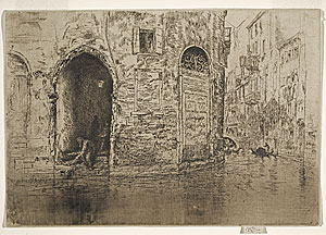 James Whistler, The Two Doorways, 1879-1880, etchings.