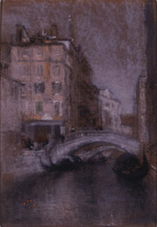 James Whistler, A Canal in Venice, 1880, pastels on brown paper, 11x8in. Corcoran Art Gallery, Washington DC.