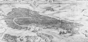 Jacopo de' Barbari, View of Venice, 1500. Howard, Venice As a Dolphin, Artibus et Historiae, 1997.