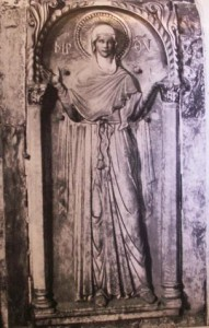 Figure 10: Orant Virgin, Venice, North Transept.  Demus, Church of San Marco, Image 37.