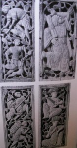 Figure 6: Labours of the Monthes, eleventh-twelfth century, Fatimid ivory reliefs, Egypt, Florence, Bargello.  Howard, Venice and the East, p102