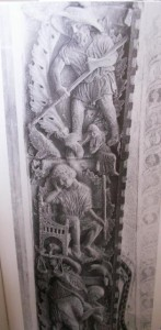 Figure 5: The Months, before c.1240, relief stone carving, Venice, San Marco, main portal.  Howard, Venice and the East, p103.