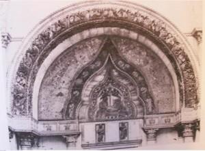 Figure 7: Porta dei Fiori, Venice, San Marco, thirteenth century.  Howard, Venice and the East, p105.