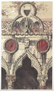John Ruskin, Decoration by Disks: Palazzo dei Badoari Partecipazzi, 1851, Vol. 1 of The Stones of Venice