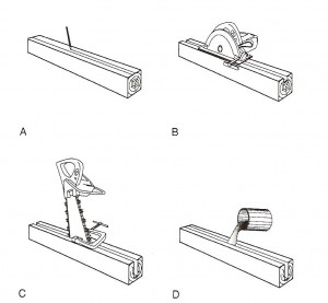 Wood Epoxy Reinforcement (WER) Method. M. E. Weaver, Conserving Buildings: A Manual of Techniques and Materials, Revised Edition, 43.